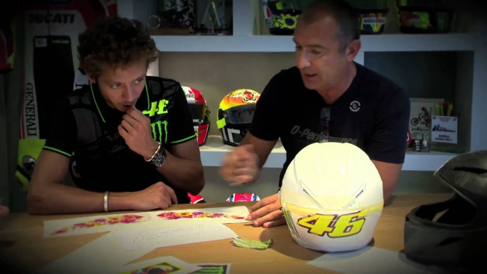 Valentino Rossi and Aldo Drudi