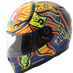 Valentino Rossi 5 Continents helmet (side view)