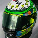 "Rossi's Misano ""Clock / Time To Wake Up"" Helmet 2010"