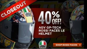 Get 40% OFF on the AGV GP-Tech Rossi Faces helmet