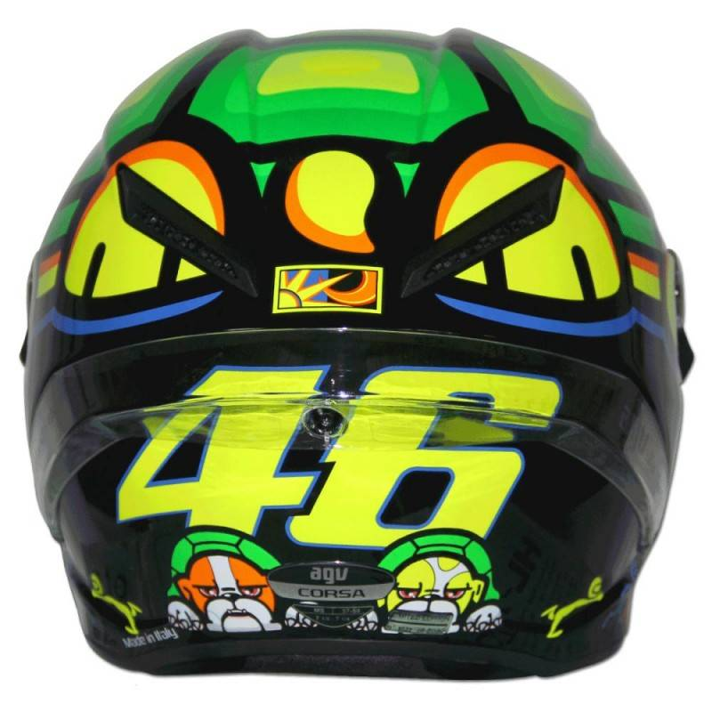 agv corsa valentino rossi turtle helmet mugello 2013. Black Bedroom Furniture Sets. Home Design Ideas