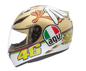 AGV K-3 Valentino Rossi Chicken helmet (2009 World Champion helmet)