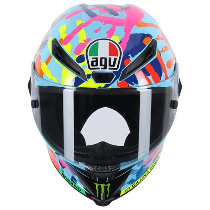 agv pista gp valentino rossi hand print helmet misano. Black Bedroom Furniture Sets. Home Design Ideas