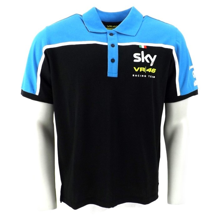 alentino Rossi VR46 Sky Team Replica Moto 3 GP Polo Shirt Official New