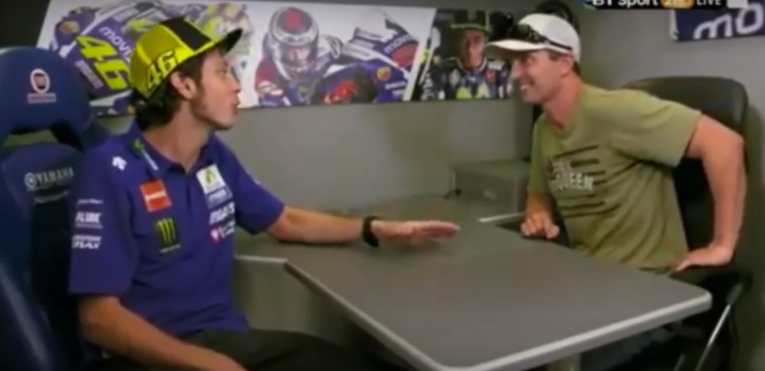Colin Edwards interviews Valentino Rossi