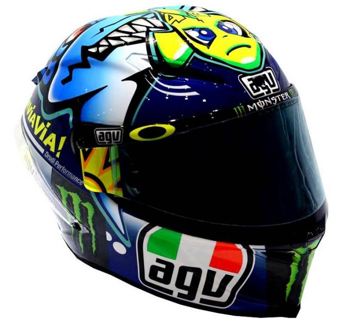 agv corsa valentino rossi shark helmet misano 2015. Black Bedroom Furniture Sets. Home Design Ideas