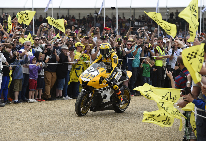 Valentino Rossi at Goodwood 2015